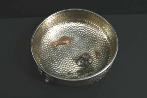 Antique GORHAM Early Japonesque Bowl Hammered Sterling Silver circa 1878