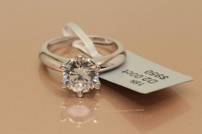 2 CT ROUND CUT DIAMOND SOLITAIRE ENGAGEMENT RING WHITE GOLD Toned Size 8