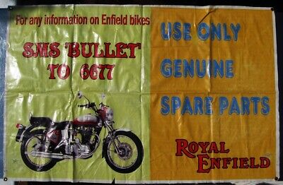 ROYAL ENFIELD Bullet 350 Motorcycle Genuine Parts Advertising Banner from India