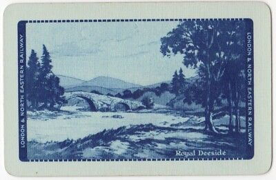 Playing Cards 1 Swap Card - Vintage LNER Railway Train ROYAL DEESIDE 4 Rare Blue