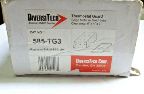 DiversiTech 585-TG3 Beige Steel Metal Thermostat Guard with Solid Base New
