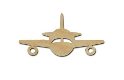 Airplane Shape Unfinished Wood Cut Outs Variety of Sizes
