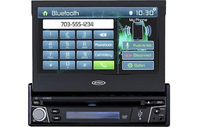 "Jensen VX3012 1-DIN DVD CD Bluetooth In-Dash Receiver w/ 7"" Flip-out Touchscreen"