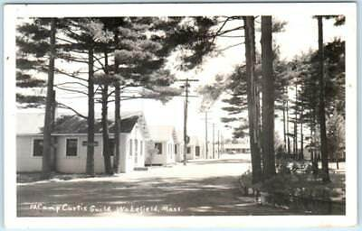 RPPC  WAKEFIELD, Massachusetts  MA  CAMP CURTIS GUILD National Guard  Postcard for sale  Foresthill
