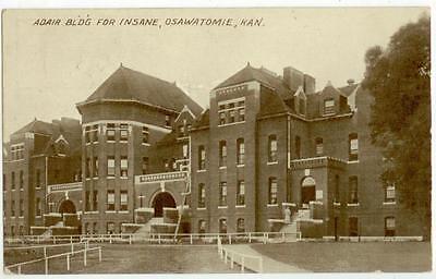 1910 Osawatomie Kansas Adair Bldg For Insane