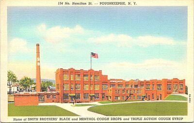 Linen Advertising Smith Bros. Cough Drops Poughkeepsie New York 1940s