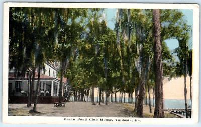 VALDOSTA, Georgia  GA   OCEAN POND CLUB HOUSE ca 1920s Postcard, used for sale  Foresthill