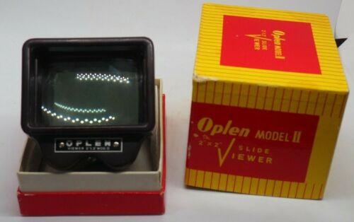 """VINTAGE OPLEN MODEL II  2"""" X 2"""" SLIDE VIEWER IN BOX - WORKING - VG++"""