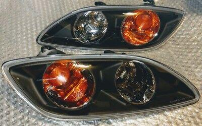 JDM Black Bumper Turn Signal Lights 99 Spec Mazda RX-7 RX7 FD3S Winkers Amber - Black Bumper Signal Lights
