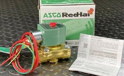 Asco Red Hat 8210g002-n 12 120 Vac Brass Body Solenoid Valve Nos