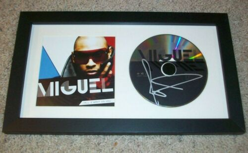 MIGUEL SIGNED AUTOGRAPH FRAMED & MATTED ALL I WANT IS YOU CD DISPLAY w/PROOF