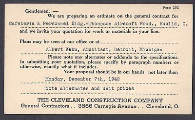 1942 THOMPSON AIRCRAFT PROD , BLDG UNDER CONSTRUCTION BY CLEVELAND CONST CO