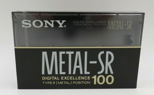 New Sony Metal-SR 100 Digital Excellence Type IV (Metal) 100 min Cassette Tape