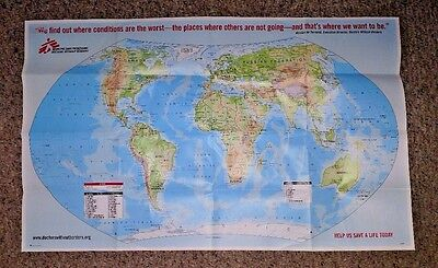 Vintage map DOCTORS WITHOUT BORDERS 2001 world map