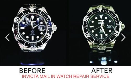 INVICTA WATCH BROKEN CRACKED GLASS CRYSTAL REPAIR REPLACEMENT SERVICE