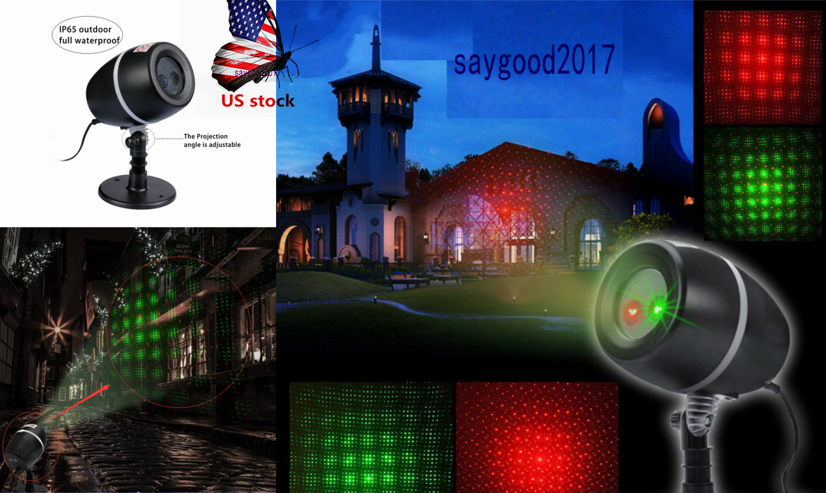 180° Moving Laser Red/Green Star Light Home Projector Outdo