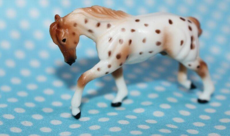 #300167 Breyer Mini Whinnies ,Pulling Draft Horse, Red leopard Appaloosa,