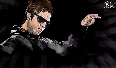 Liam Gallagher Painting (First Edition Print - Limited to 250 Prints)