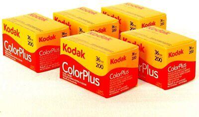 Kodak 35mm ColorPlus 36 Exposure Colour Print Film - Pack of 5  *FRESH UK STOCK*