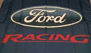 FORD RACING. HUGE Flag..Classic car show, Man Cave, Garage, Shed