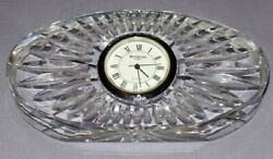 Waterford Crystal Clock Small Oval Desk Table Clock Bedside Quartz Ireland