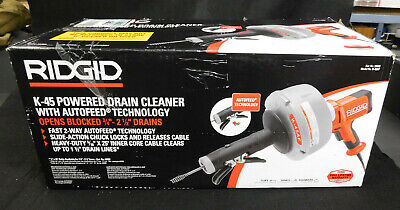 Ridgid 35473 Hand-held Drain Cleaner With Auto Feed - Model K-45af