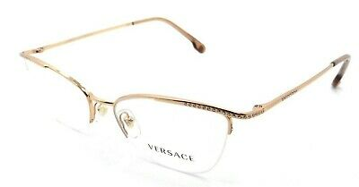 Versace Rx Eyeglasses Frames VE 1261B 1412 52-17-140 Rose Gold Made in Italy