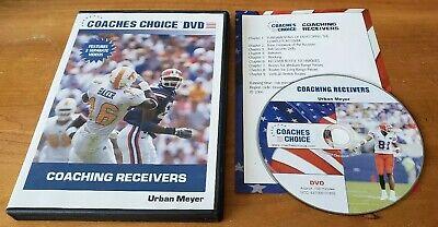 Coaches Choice: Coaching Receivers (DVD) Urban Meyer football Florida 2 videos