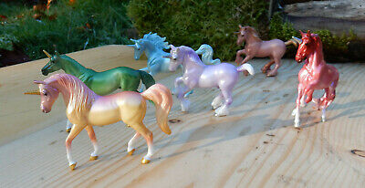 Breyer Stablemate unicorn lot - various 6 piece lot