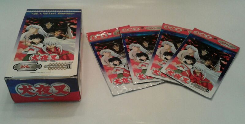 Inuyasha Bromide Trading Cards! LOT OF 66 CARDS w/Display Box & FOIL CARDS HTF!