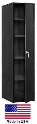 Storage Cabinet Commercialindl - 12 Gauge Steel - 4 Shelf - Black - 72x24x18 P