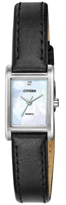 Citizen Womens Quartz Diamond Accent Mother of Pearl Dial 18mm Watch EJ612101D