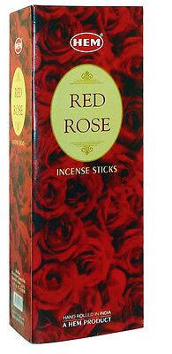Hem Best Seller Red Rose Incense 120 Sticks  Free