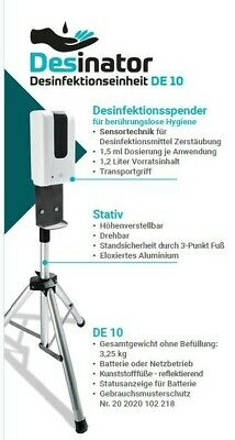 Desinator Automatischer mobiler Desinfektionsmittelspender