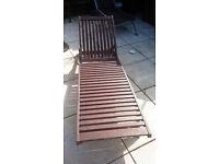 Hardwood Sun lounger