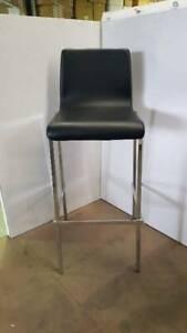 TCW Warehouse Sale – Black Leather Barstools