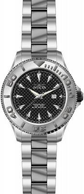 Invicta Pro Diver 15171 Mens Round Carbon Analog Date Stainless Steel Watch