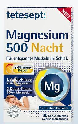 3 Magnesium (1er,  2er,  3er Pack Tetesept Magnesium 500 Nacht 30 Stück  PZN 13166699)