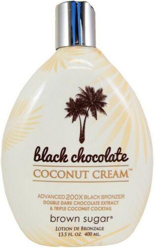 BLACK CHOCOLATE COCONUT CREAM 200X Brown Sugar Bronzer Tanning Bed Lotion 13.5oz