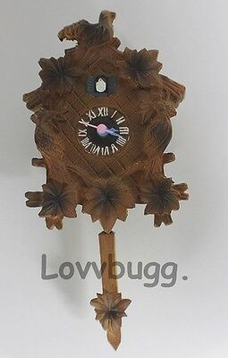 Real Cuckoo Clock Mini German for  American Girl Doll house Accessory