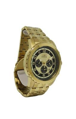 Invicta Specialty 19463 Mens Round Analog Chronograph Date Gold Tone Watch