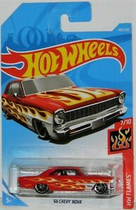 Hot Wheels 1/64 '66 Chevy Nova Diecast Car