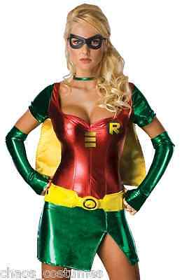 Sexy Batman Robin Super Hero Justice League DC Avengers Halloween Costume 8 10](Avengers Justice League Halloween)