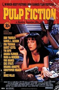 PULP-FICTION-UMA-ON-BED-91-5-X-61CM-POSTER-NEW-OFFICIAL-MERCHANDISE