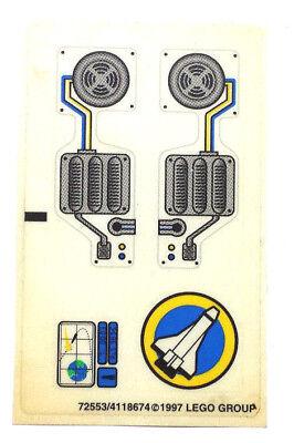 LEGO® Space Shuttle Rakete Cockpit Turbinen Aufkleber Sticker K86