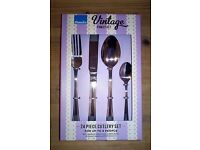 amefa vintage family 24 piece 6 person cutlery set Brand New