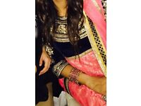 Indian Bridal Pink and Navy Dress