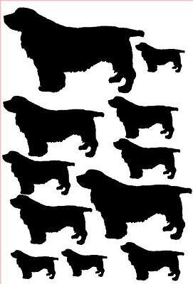 Sussex spaniel vinyl stickers/ car decals/ window decals