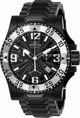 Invicta Excursion 23907 Men's Round Black Analog Chronograph Date Watch