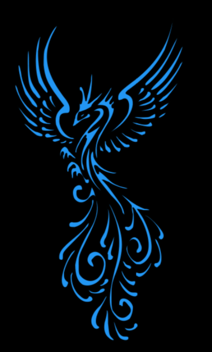 Home Decoration - Phoenix Vinyl Decal fantasy mythical bird
